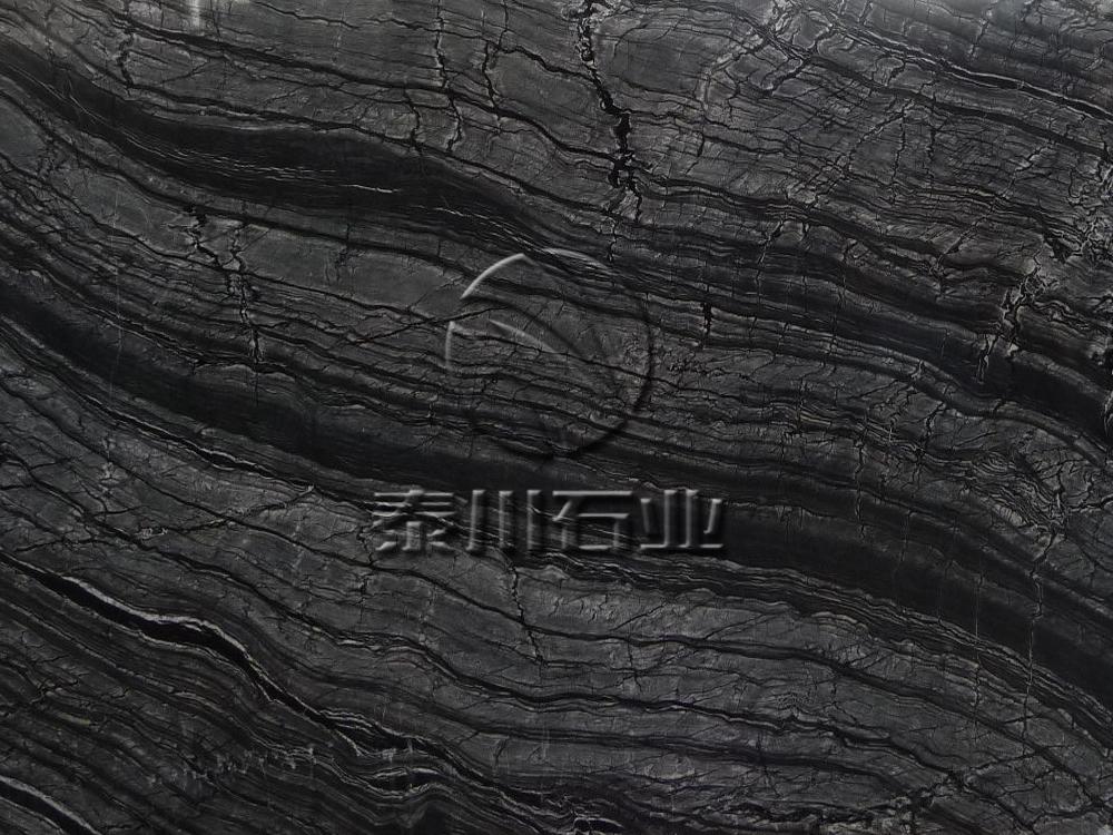 古木纹     古木纹指黑白相间木纹理大理石